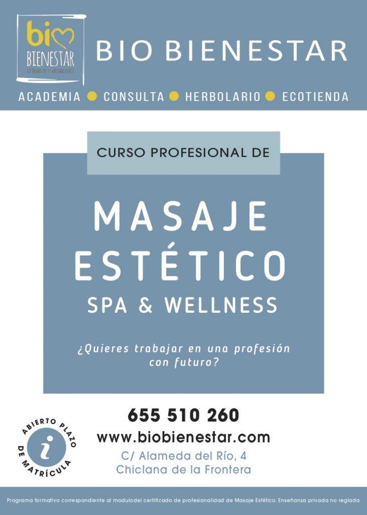 CURSO DE MASAJE ESTETICO SPA WELLENESS  IBIZA CHICLANA CADIZ