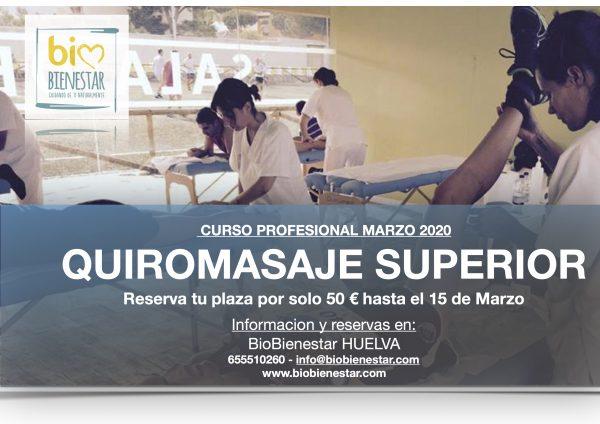 Curso de Quiromasaje en Huelva