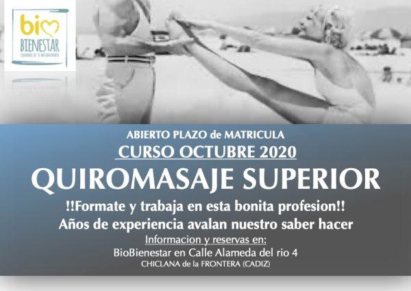 CURSO DE QUIROMASAJE CADIZ IBIZA CHICLANA HUELVA