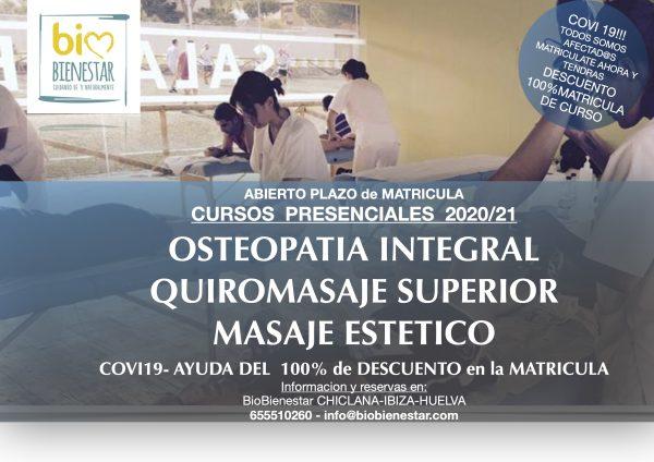 Curso Masaje Quiromasaje Osteopatia Chiclana Cadiz Ibiza Huelva