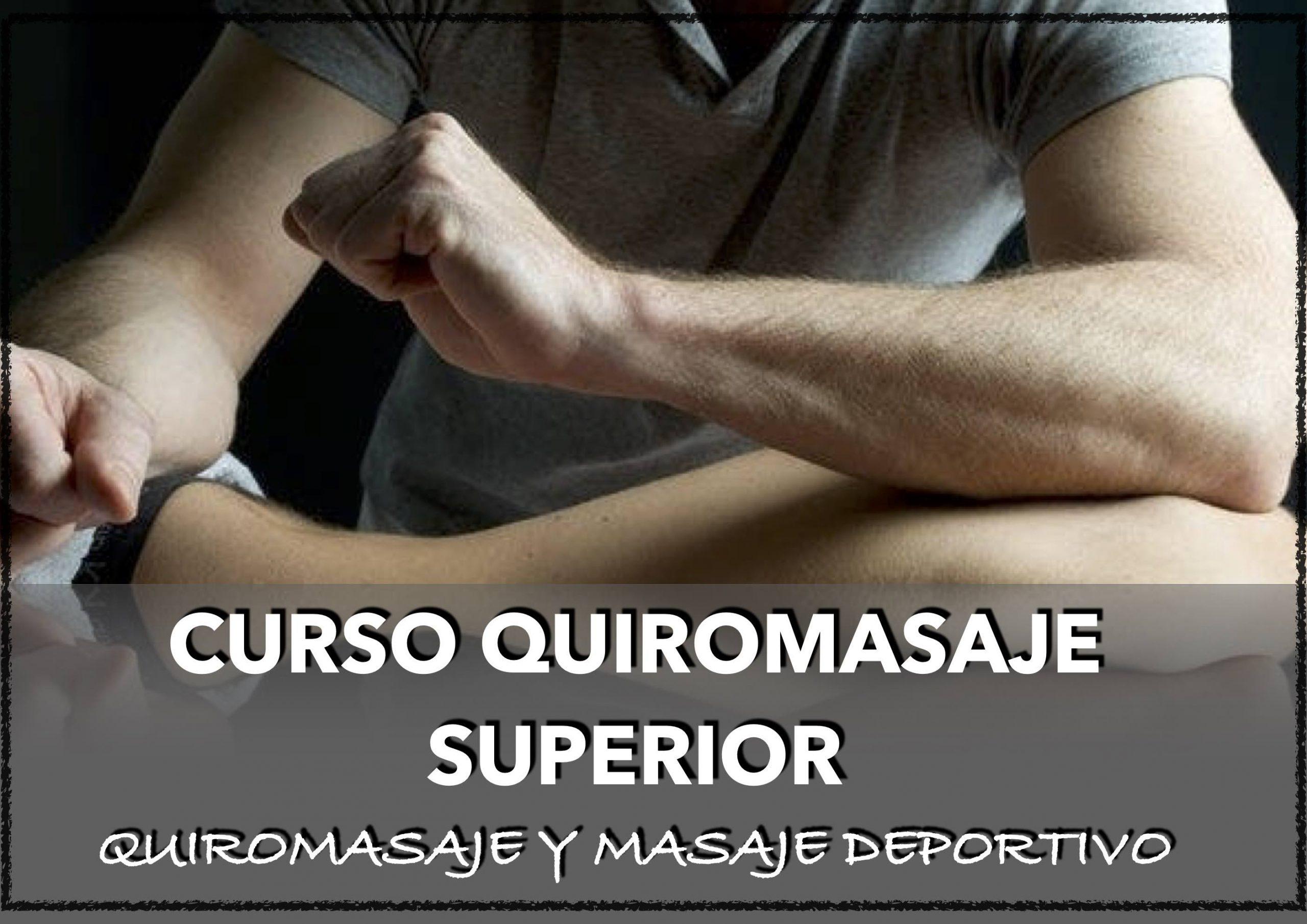 CURSO QUIROMASAJE Y MASAJE DEPORTIVO EN CHICLANA CADIZ SEVILLA  IBIZA HUELVA