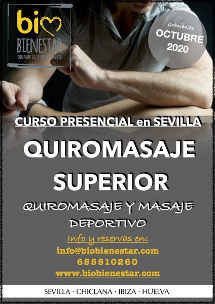 curso profesional presencial de quiromasaje superior incluye masaje deportivo en Sevilla